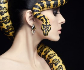 Girl with snake HD picture 05