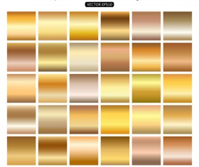 Gold gradient material vector 01