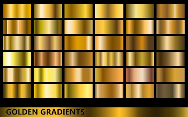 Gold Gradient Material Vector 02 Vector Background Free