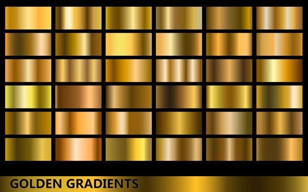Gold Gradient Material Vector 03 Free Download