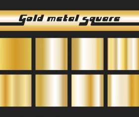 Gold metal square vector material