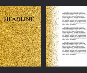 Gold particles magezine cover vector