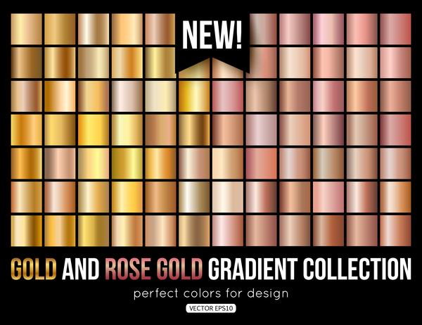 Gold With Rose Gold Gradient Vector Vector Background