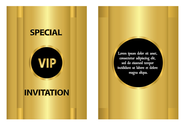 Golden vip invitation template vector free download golden vip invitation template vector stopboris Gallery