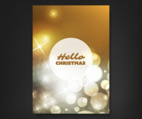 Golden blurs flyer template vector