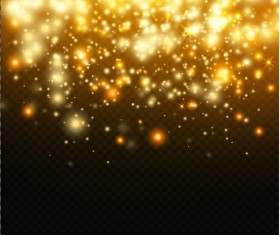Golden light dots illustration vector