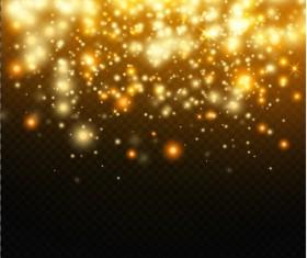 Golden light dots illustration vector