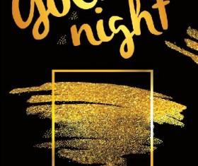 Golden night flyer psd template