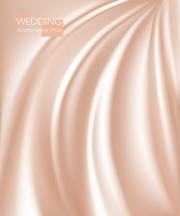 Golden smooth silk background vector