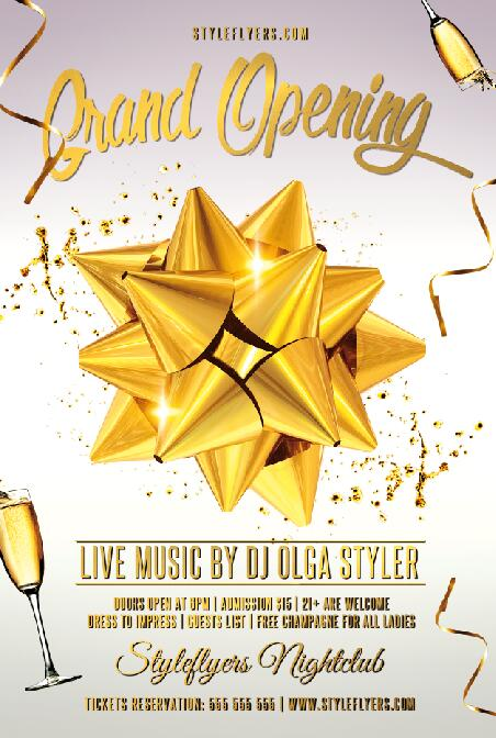 grand opening flyer psd template free download