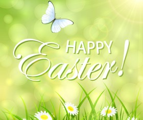 Green abstract Easter background vector