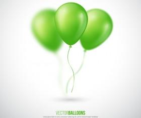 Green balloon background illustration vector