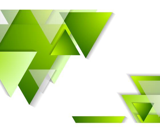 Green triangle with white background vector free download
