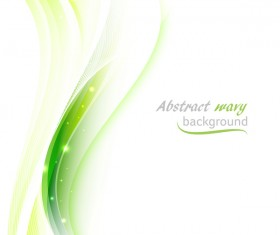 Green wavy lines abstract background vector