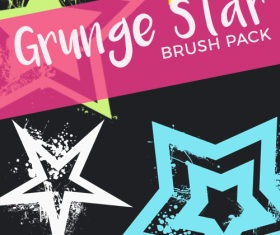 Grunge Star photoshop brushes