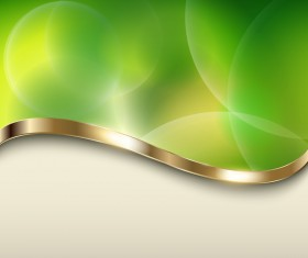 Halation green background with metal decorative vector 02