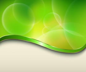 Halation green background with metal decorative vector 04
