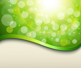 Halation green background with metal decorative vector 05