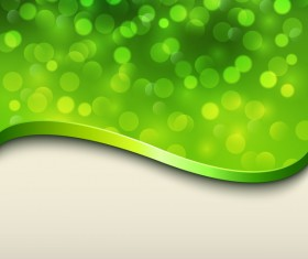 Halation green background with metal decorative vector 06