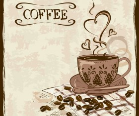 Hand drawn coffee background vectors 01