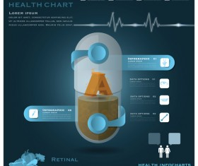 Health chart infographic template vector 02