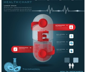Health chart infographic template vector 05