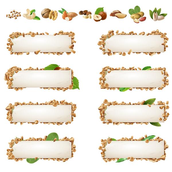 Healthy food banners vectors 09