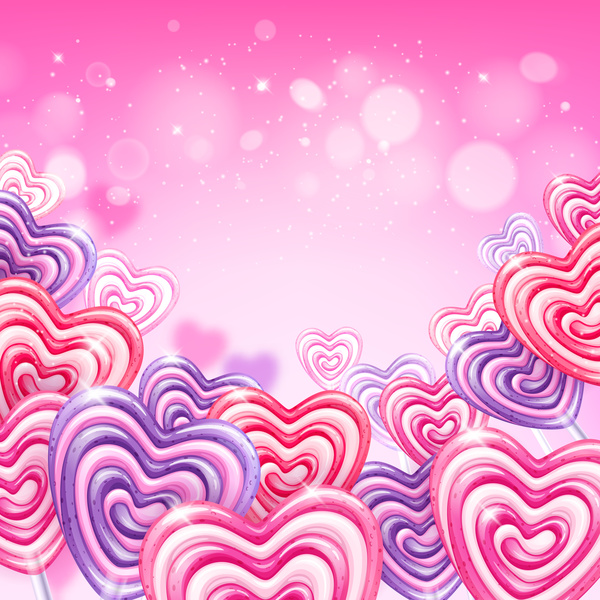 heart candy cane with pink background vectors 02 free download