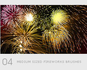 Holiday firework effect photoshop brushes