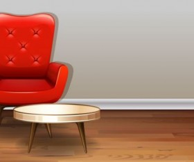 Indoor decorations design vectors set 03