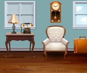 Indoor decorations design vectors set 06