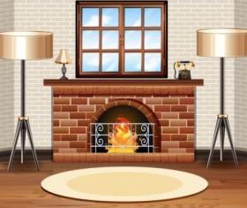 Indoor decorations design vectors set 07