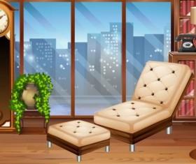 Indoor decorations design vectors set 09