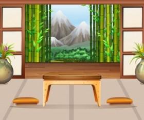 Indoor decorations design vectors set 10