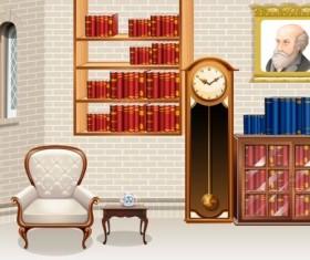 Indoor decorations design vectors set 11