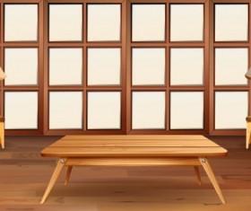 Indoor decorations design vectors set 15