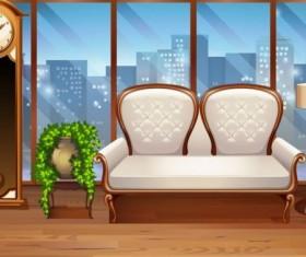 Indoor decorations design vectors set 17