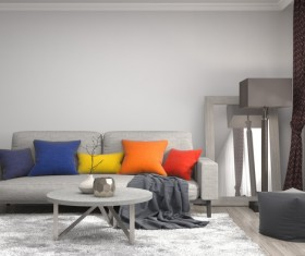 Interior with sofa and chair Stock Photo 01