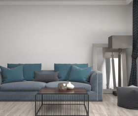 Interior with sofa and chair Stock Photo 02