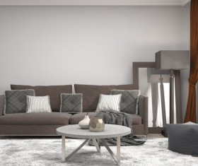 Interior with sofa and chair Stock Photo 03