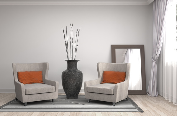 Interior With Sofa And Chair Stock Photo 05