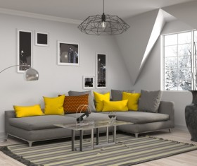 Interior with sofa and chair Stock Photo 10