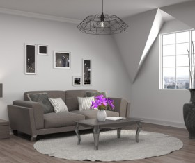 Interior with sofa and chair Stock Photo 11