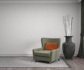 Interior with sofa and chair Stock Photo 12
