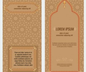 Islamic style brochure and flyer cover template vector 01