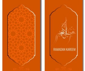 Islamic style brochure and flyer cover template vector 02