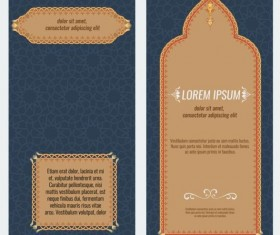 Islamic style brochure and flyer cover template vector 03