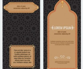 Islamic style brochure and flyer cover template vector 05