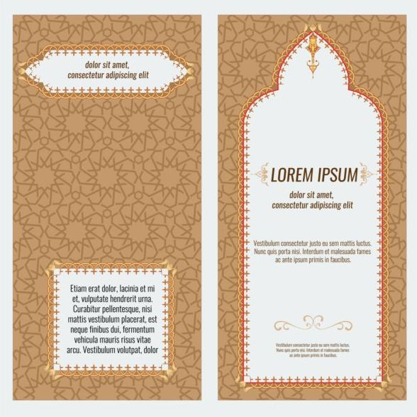 Islamic style brochure and flyer cover template vector 06 for Islamic brochure design