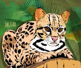 Jaguar hand drawn vector